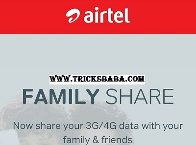 Airtel internet data share