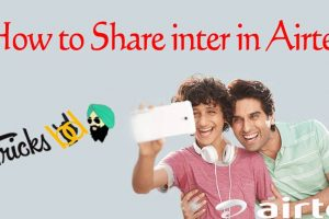 how to share data in airtel
