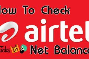 How To Check Airtel Net Balance